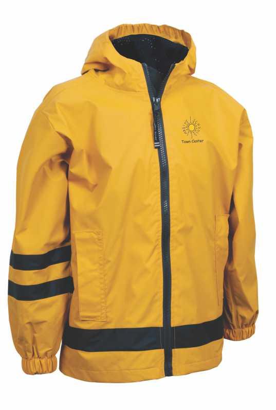 Hooded Waterproof Rain Jacket | imagineuniforms.com